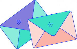 Graphic of messages or envelopes