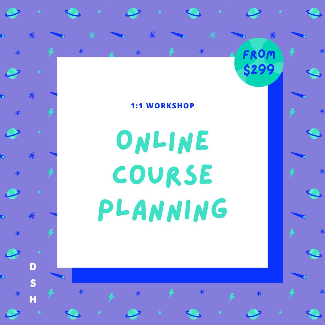 Online course planning service
